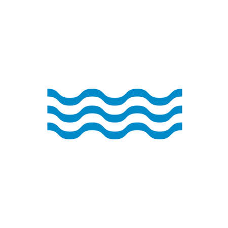 water waves: Water waves icon. Vector illustration