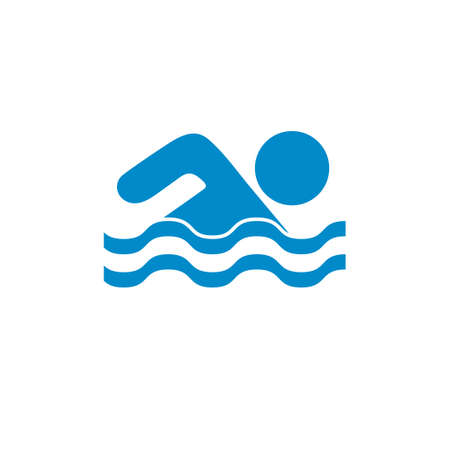 Swimming water sport icon. Vector illustration