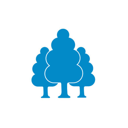 reforestation: Deciduous forest icon. Vector illustration