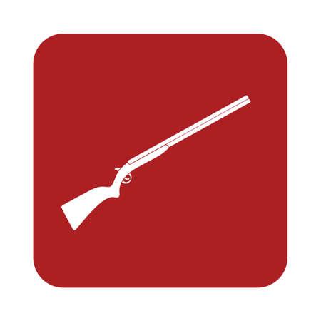 blunderbuss: Hunting shot gun icon. Vector illustration