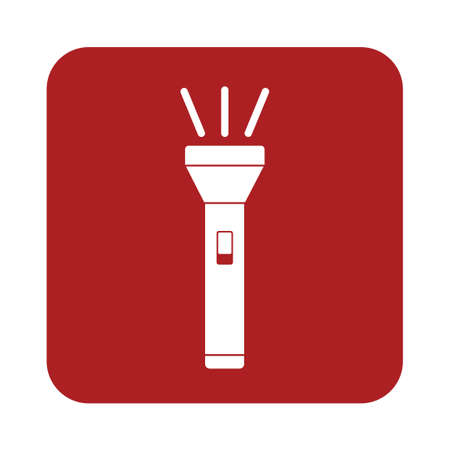 lighten: Flashlight icon. Portable torch vector isolated illustration Illustration