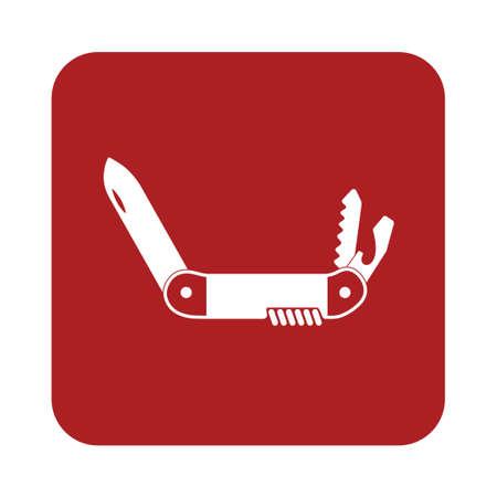 penknife: Camping knife icon. Vector illustration Illustration