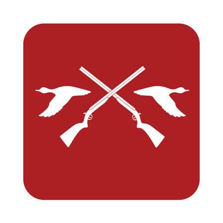 wildlife shooting: Hunting club icon. Vector illustration