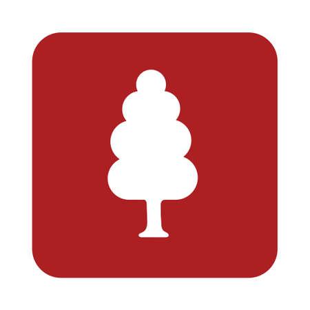 deciduous forest: Deciduous forest icon. Vector illustration