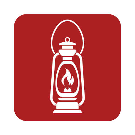 kerosene: Antique Old Kerosene Lamp isolated. Retro design. Vector illustration.