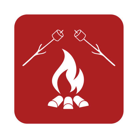 Zephyr on skewer icon. Vector illustration Illustration