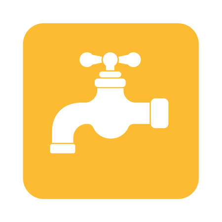 stopcock: Water tap icon. Vector illustration