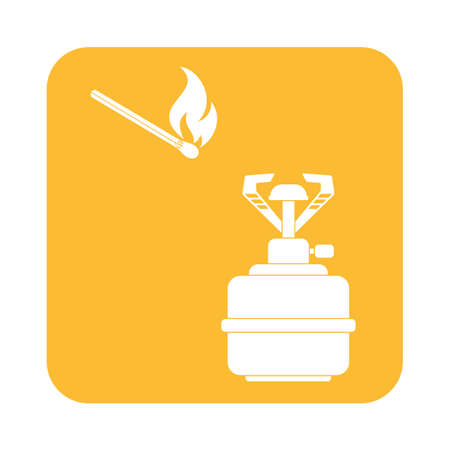 stove: Camping stove icon vector. Vector illustration.