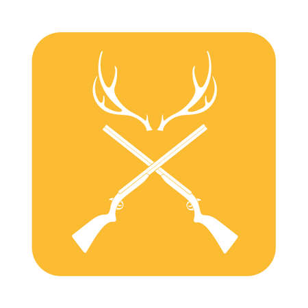 seal gun: Hunting club logo icon. Vector illustration