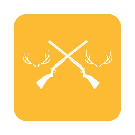 drake: Hunting club icon. Vector illustration