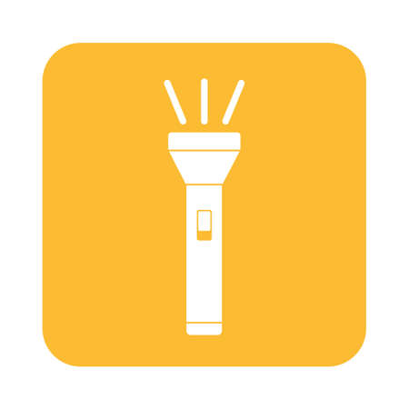 Flashlight icon. Portable torch vector isolated illustration Illustration