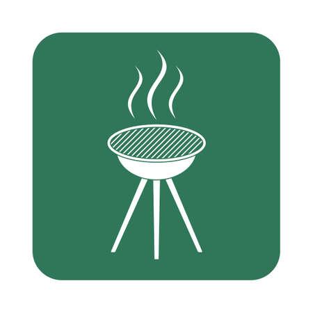 brazier: Barbecue grill icon. Vector illustration