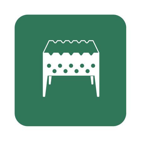 roaster: Brazier icon. Vector illustration