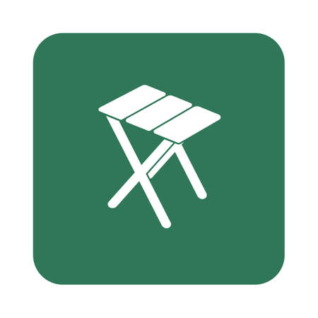 seated: Camping stool icon. Vector illustration