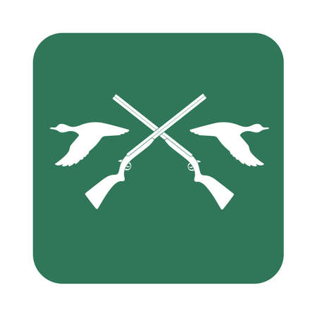 seal gun: Hunting club icon. Vector illustration