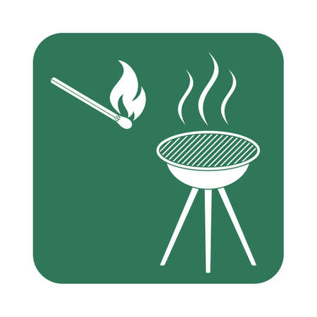 banger: The barbecue icon. Vector illustration