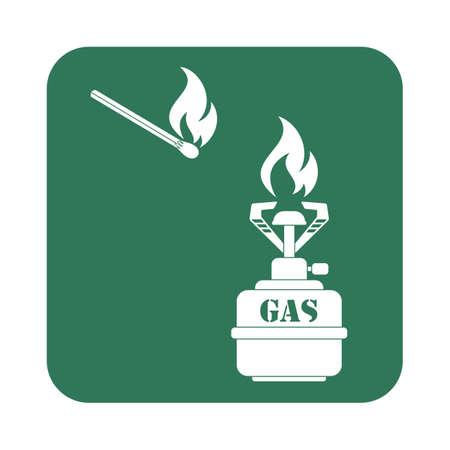 Camping stove icon vector. Vector illustration Illustration