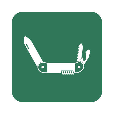 foldable: Camping knife icon. Vector illustration Illustration