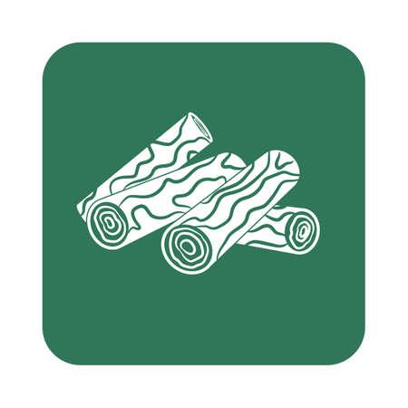chafing dish: Firewood icon. Vector illustration Illustration