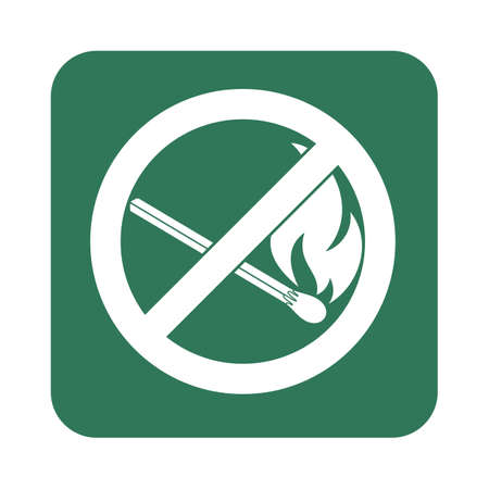forewarn: No Fire sign. Prohibition open flame symbol. Vector illustration