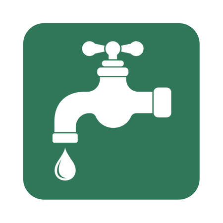economize: Water tap icon. Vector illustration