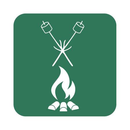 Zephyr on skewer icon. Vector illustration  イラスト・ベクター素材
