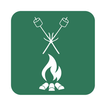 Zephyr on skewer icon. Vector illustration Stock Illustratie