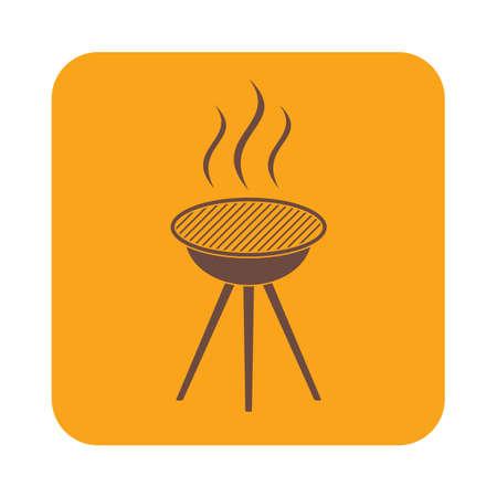 Barbecue grill icon. Vector illustration
