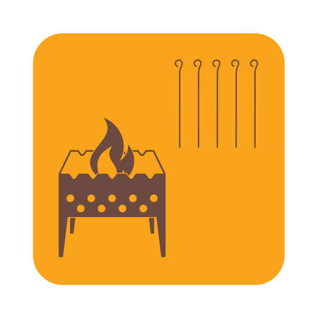 outing: Brazier icon. Vector illustration