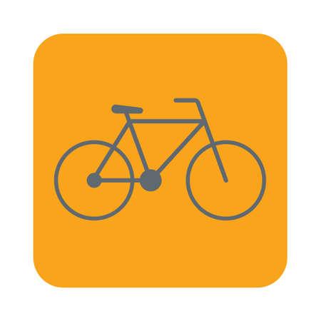 Bicycle  bike icon vector illustration