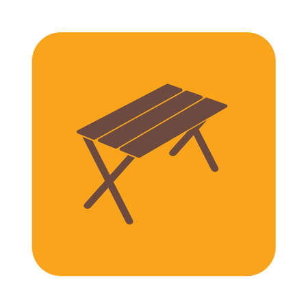seated: Camping table icon. Vector illustration Illustration