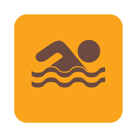 water sport: Swimming water sport icon. Vector illustration