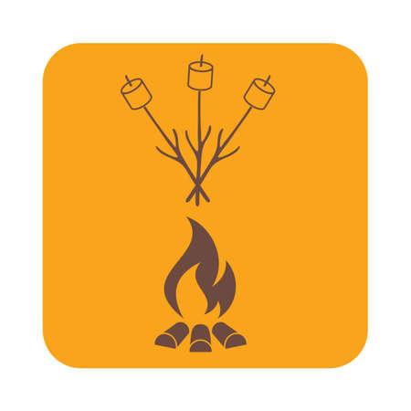 outing: Zephyr on skewer icon. Vector illustration Illustration