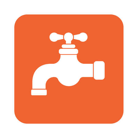 ooze: Water tap icon. Vector illustration
