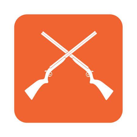 shot gun: Hunting shot gun icon. Vector illustration
