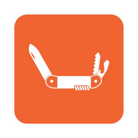 Camping knife icon. Vector illustration Illustration