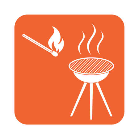 banger: The barbecue icon. Flat Vector illustration