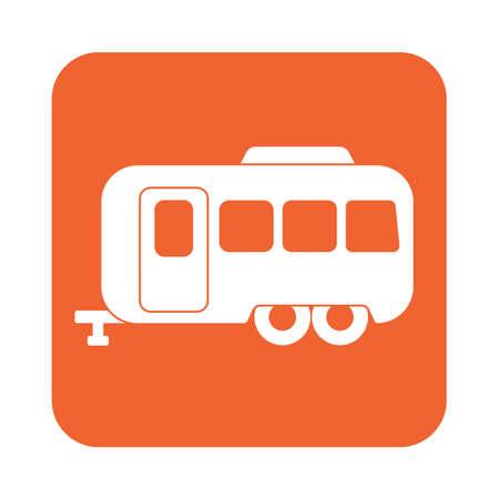 Camping trailer icon. Vector illustration