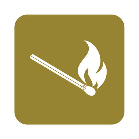 extinguishing: Match fire icon vector. Vector illustration Illustration