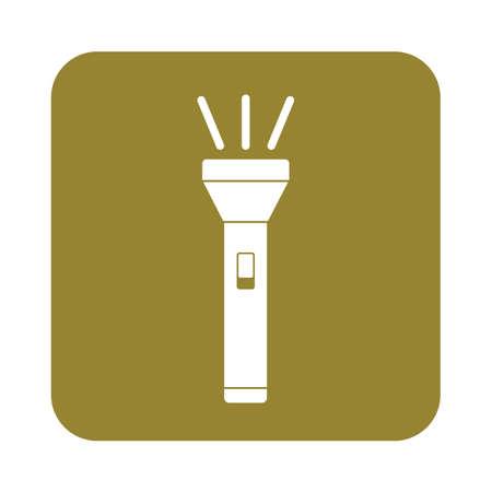 portable: Flashlight icon. Portable torch vector isolated illustration Illustration