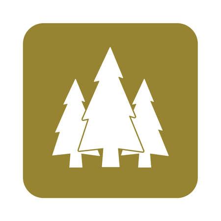flat icon  Fir Trees