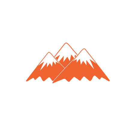 winter range: Mountain icon. Vector concept illustration for design