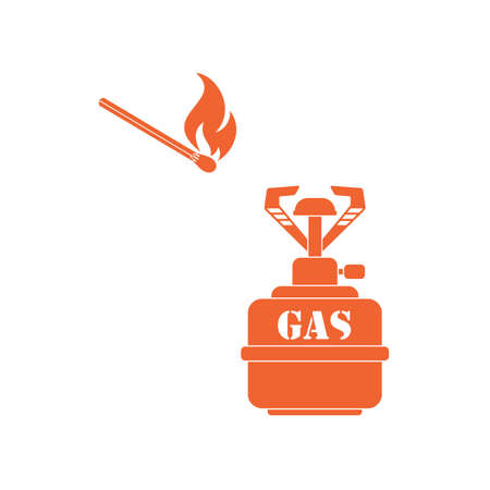Camping stove icon vector. Vector illustration.