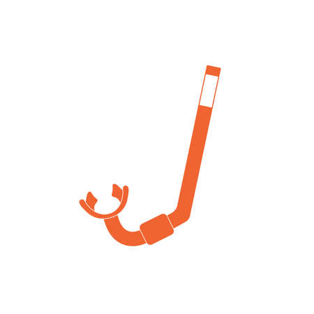 Diving Snorkel Icon. Tube for diving vector illustration isolated Illustration