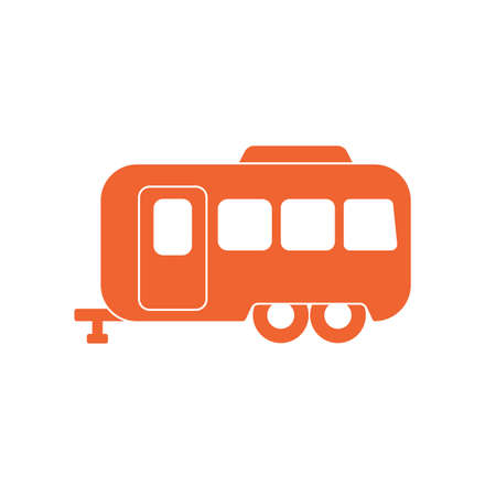 Camping trailer icon. Vector illustration