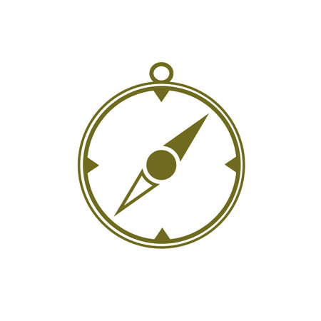 Compass icon isolated
