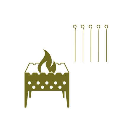 brazier: Brazier icon. Vector illustration