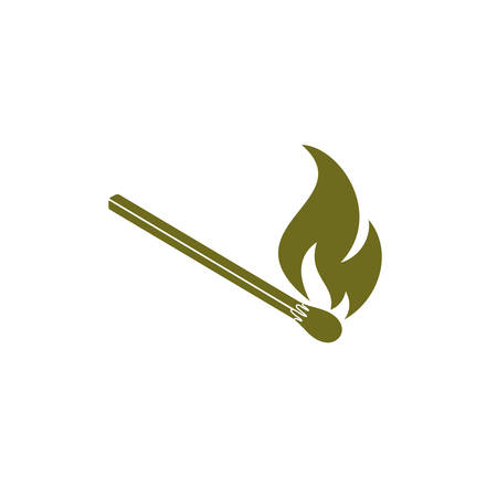 Match fire icon vector. Vector illustration Illustration