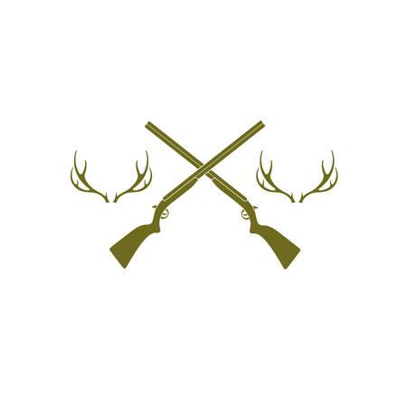 Hunting club icon. Vector illustration
