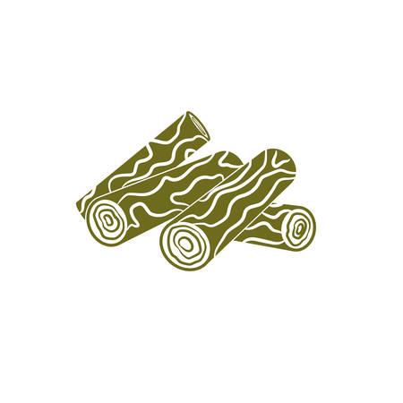 icono de leña. ilustración vectorial